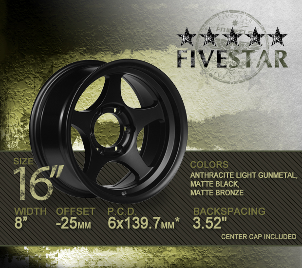 FN Wheels Five Star Specs