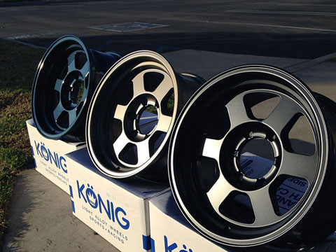 "16x8"" Konig Countersteer Type X Wheels"